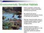 environmentally sensitive habitats