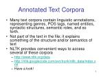 annotated text corpora