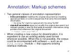 annotation markup schemes