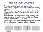 text corpus structure