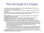 the life cycle of a corpus