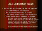 lane certification con t11