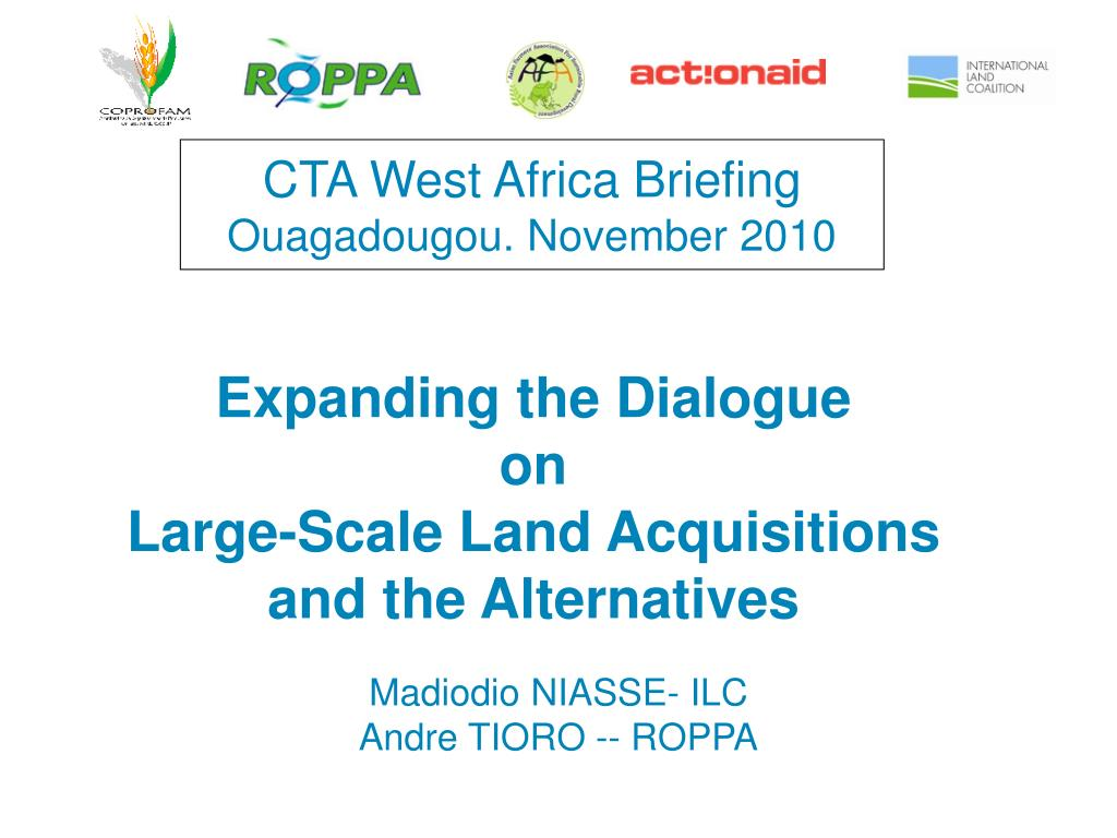 cta west africa briefing ouagadougou november 2010 l.