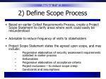 2 define scope process
