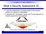 what a security assessment is