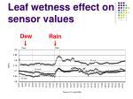 leaf wetness effect on sensor values