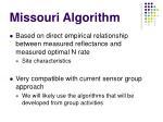 missouri algorithm