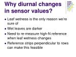 why diurnal changes in sensor values
