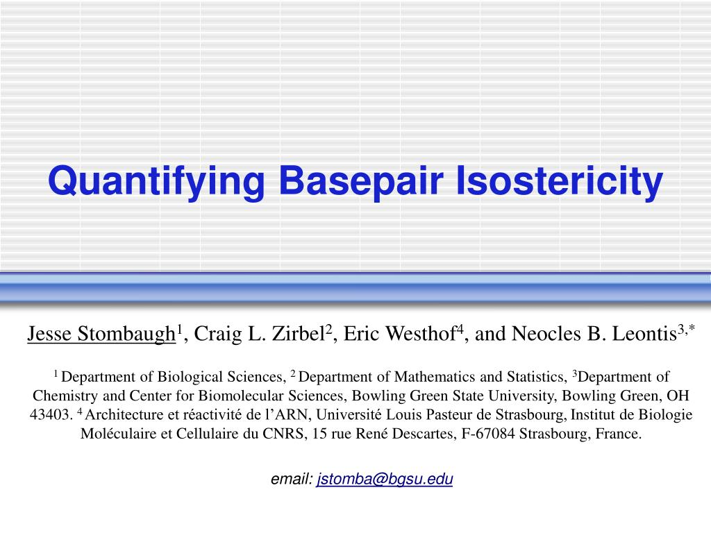 quantifying basepair isostericity l.