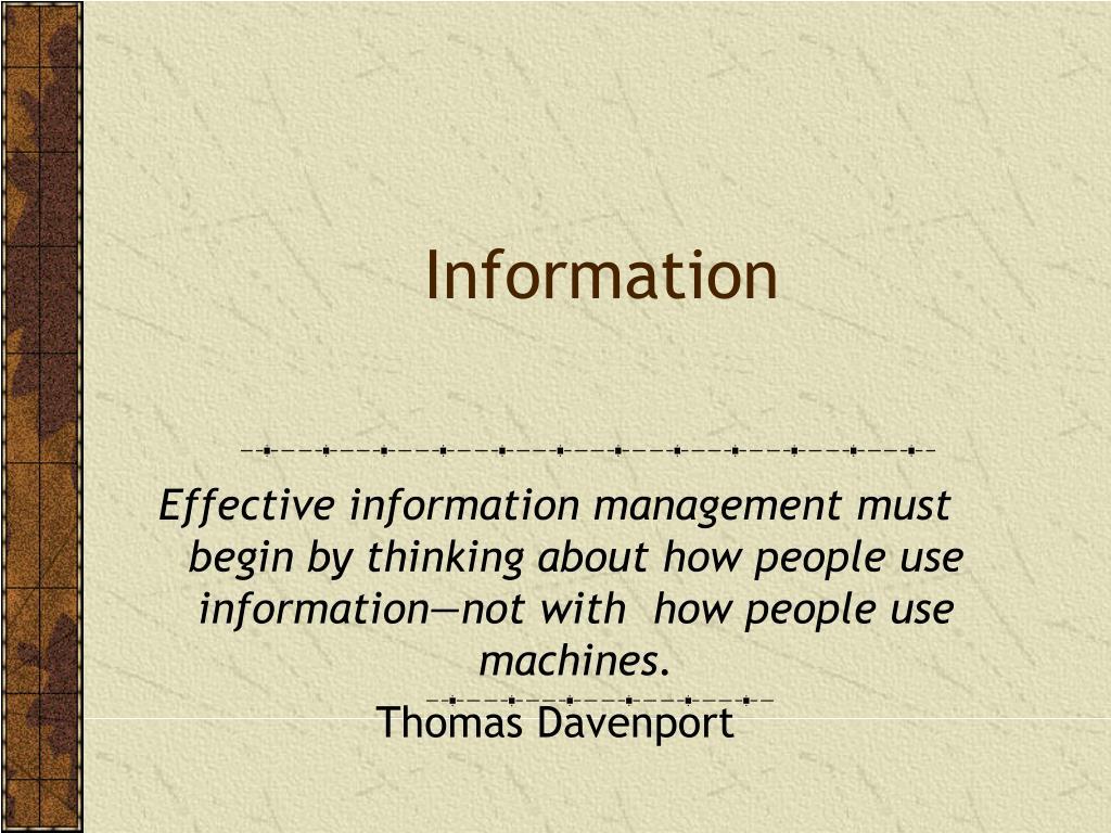 information l.
