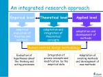 an integrated research approach