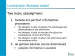limitations rational model