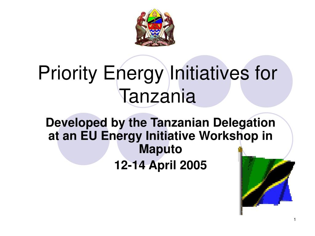 priority energy initiatives for tanzania l.