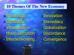 10 themes of the new economy