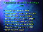 acquisition of israeli technology 1998