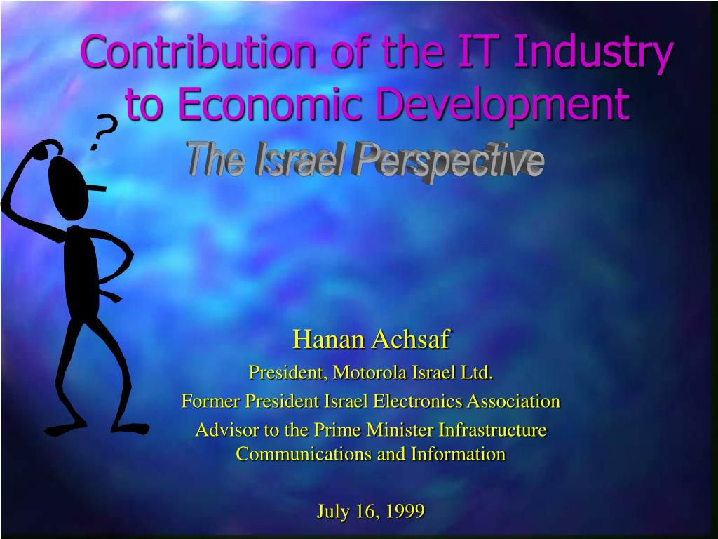 contribution of the it industry to economic development l.