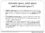 actuator space joint apace and cartesian space i