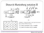 denavit hartenberg notation ii