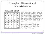 examples kinematics of industrial robots17