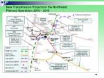 new transmission projects in the northwest planned operation 2010 2015