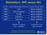 biomarkers ami versus aki7
