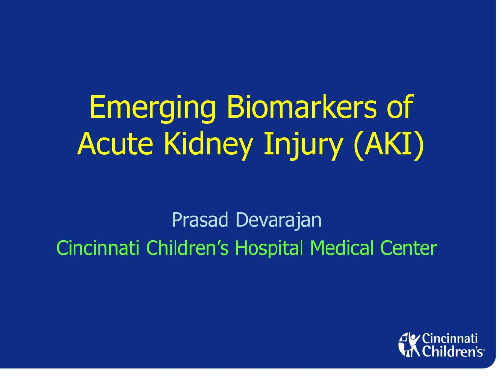 emerging biomarkers of acute kidney injury aki l.