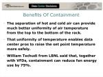 benefits of containment