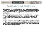 certifications not worth much