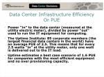 data center infrastructure efficiency or pue
