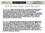 how do you power down servers