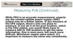 measuring pue continued