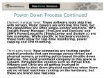 power down process continued