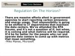regulation on the horizon