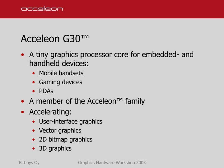 Acceleon g30