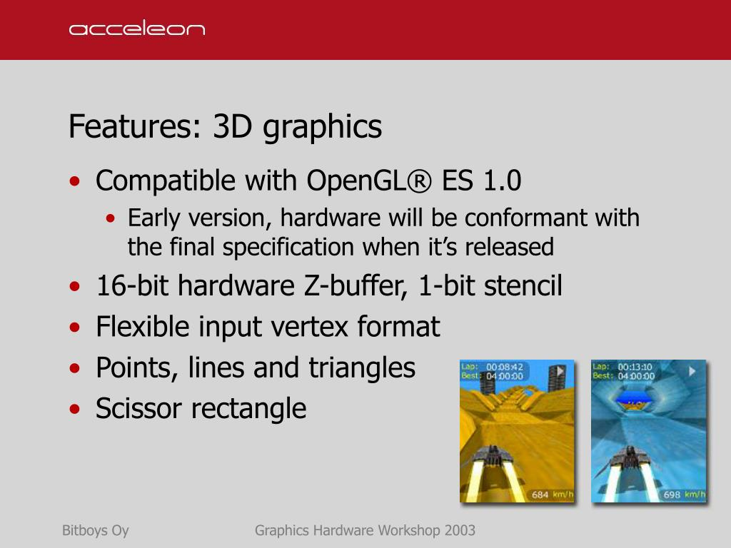 Features: 3D graphics