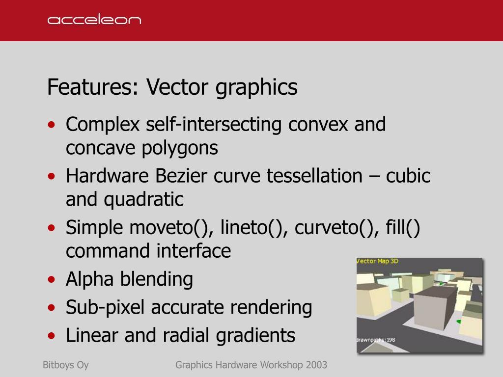 Features: Vector graphics