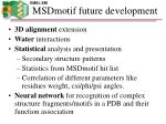 msdmotif future development