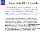 panics in the us ii cont d