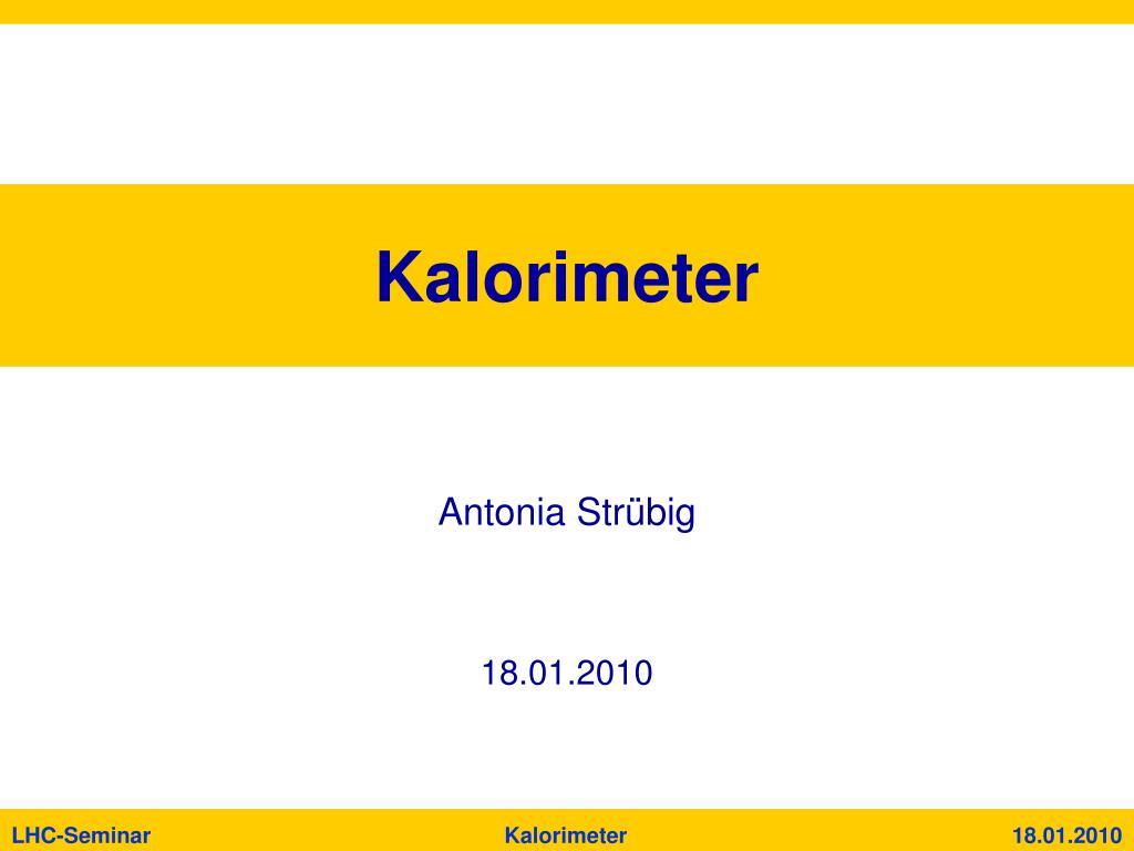 kalorimeter l.