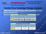 central plant redesign energy analysis