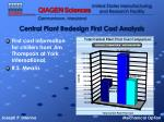 central plant redesign first cost analysis
