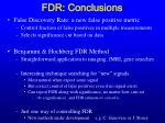 fdr conclusions