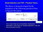 model selection and fdr practical theory