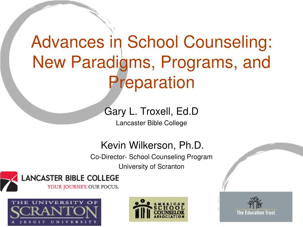 advances in school counseling new paradigms programs and preparation l.