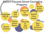 system focused school counseling programs