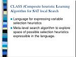 class c omposite heuristic l earning a lgorithm for s at local s earch