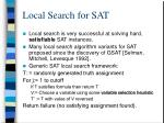 local search for sat
