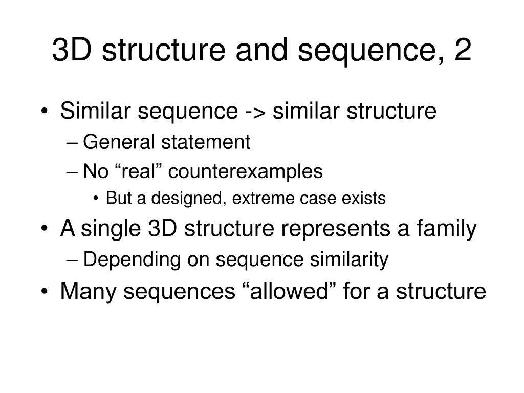3D structure and sequence, 2
