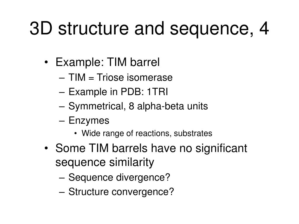 3D structure and sequence, 4