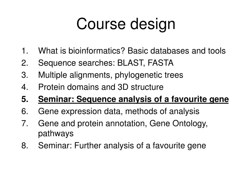 What is bioinformatics? Basic databases and tools